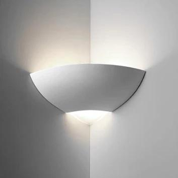 Wall Light Raw Ceramic with Frosted Glass E27 in 30cm BF-7949 Domus Lighting - Oz Lights Direct