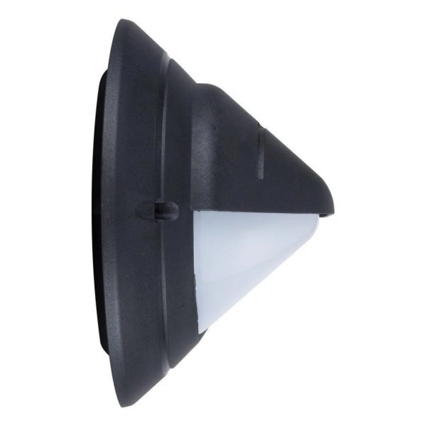 Wall Bunker Light Exterior Oval Eyelid in Black or White 30cm Domus Lighting - Oz Lights Direct
