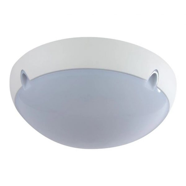Wall Ceiling Light Exterior Round in White and Black E27 Domus Lighting - Oz Lights Direct