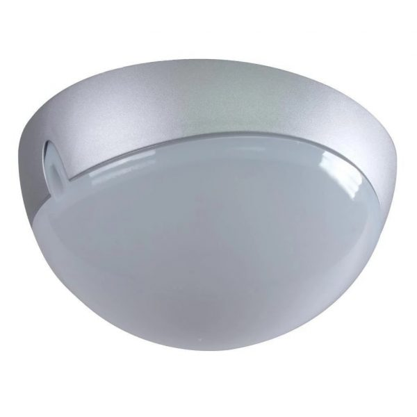 Wall Ceiling Light Exterior Round in Silver 25cm Domus Lighting - Oz Lights Direct