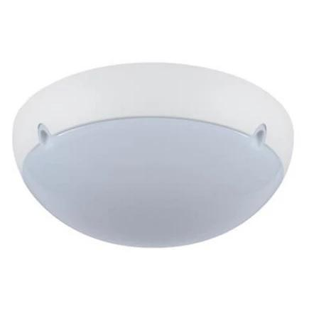 Wall Ceiling Light Exterior Round in White and Black 43cm Domus Lighting - Oz Lights Direct