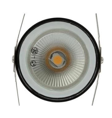 Domus Lighting Deka-Body Round 12V 3W LED Inground Light Black Body - 3000K or 5000K - Oz Lights Direct
