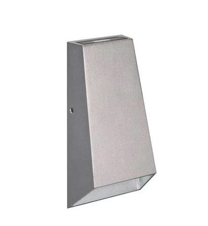 LED Wall Light Outdoor Aluminium Silver 6W IP54 I-Wave 3k and 5k Domus Lighting - Oz Lights Direct