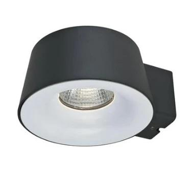 LED Wall Light 10W 240V in Silver and Dark Grey 16cm Cup in 3K and 5K Domus Lighting - Oz Lights Direct