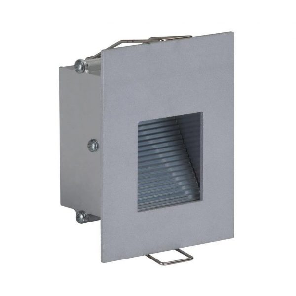 Slide-1 Recessed 1W LED Steplight - 240V Aluminium in 6k and 3k Domus Lighting - Oz Lights Direct