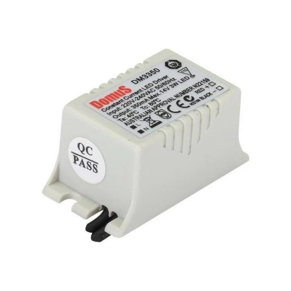 LED Driver 3W Constant Current 350mA Domus Lighting - Oz Lights Direct