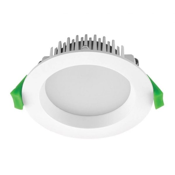 Domus Lighting DECO-13 Round 13W Dimmable LED Downlight - White Frame - Oz Lights Direct