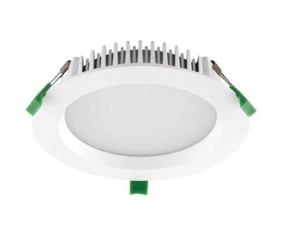 Domus Lighting DECO-20 Round 20W Dimmable LED Downlight - Trio White Frame - Oz Lights Direct