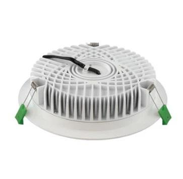 Domus Lighting DECO-28 Round 28W Dimmable LED Downlight - Trio White Frame - Oz Lights Direct