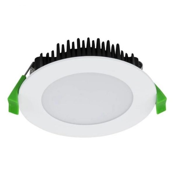 TEK-13 Round 13W Dimmable LED Downlight in Satin White in TRIO Domus Lighting - Oz Lights Direct