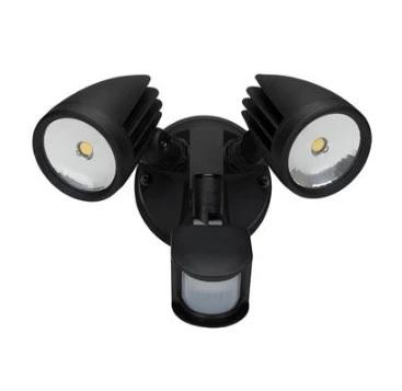 Domus Lighting MURO-30S Twin Head 30W LED Spotlight with Sensor - TRIO Tricolour - Oz Lights Direct