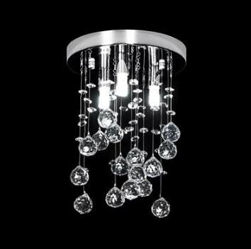 Domus Lighting Starlight Small LED Pendant Crystal Light G9 - Close to Ceiling - Oz Lights Direct