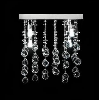 Domus Lighting Starlight Medium LED Pendant Crystal Light G9 - Close to Ceiling - Oz Lights Direct