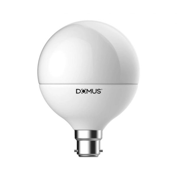 LED Globe Spherical Frost 13W B22 in 27K and 65K Domus Lighting - Oz Lights Direct