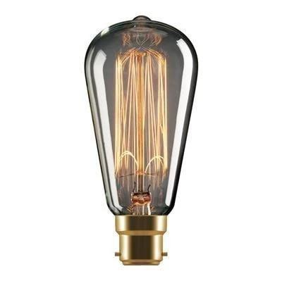 Carbon Filament Globe 25W Pear in B22 and E27 Domus Lighting - Oz Lights Direct