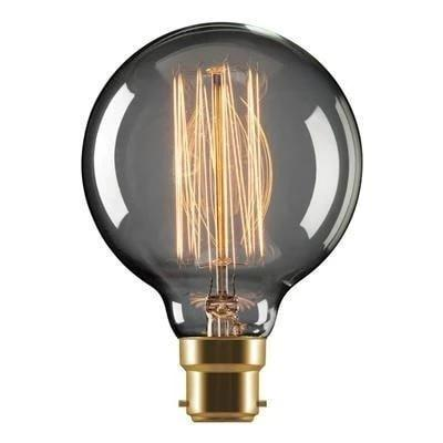 Carbon Filament Globe 25W Dimmable B22 or E27 in 2000K Sphere Domus Lighting - Oz Lights Direct
