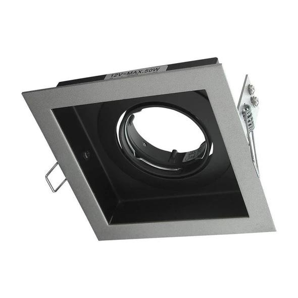Downlight Fitting Square MR16 in Silver or White 12cm Slotter Domus Lighting - Oz Lights Direct