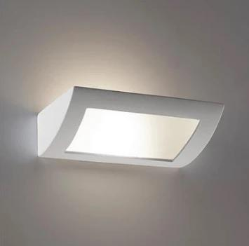 Wall Light Raw Ceramic w Frosted Glass in E27 30cm BF-8232 Domus Lighting - Oz Lights Direct
