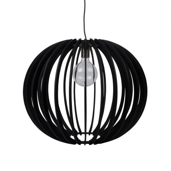 PUFFIN-60 60cm Timber 1.5M Pendant 240V - E27 - Oz Lights Direct