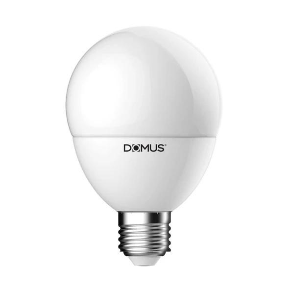 LED Globe Spherical Frost 9.5W in B22 or E27 12cm in 27K and 65K Domus Lighting - Oz Lights Direct