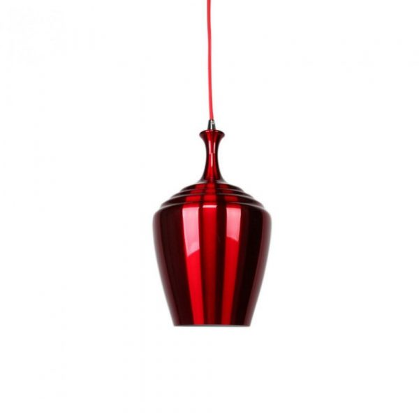 Eva Wide Pendant Light | Blue, Flame Red and Wine Red - Oz Lights Direct