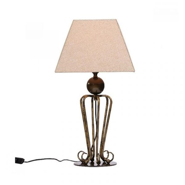 Folke Table Lamp | Antique Brass - Oz Lights Direct