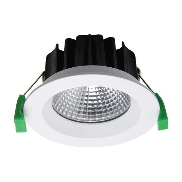 Domus Lighting NEO-13 Round 13W Dimmable LED Downlight - White Frame - Oz Lights Direct