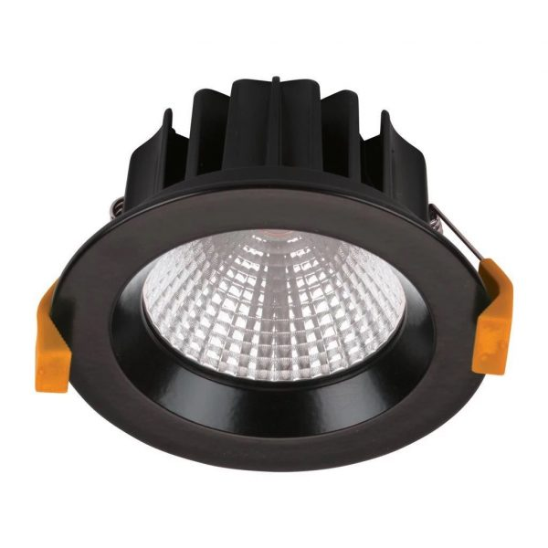 Domus Lighting NEO-13 Round 13W Dimmable LED Downlight - Black Frame - Oz Lights Direct