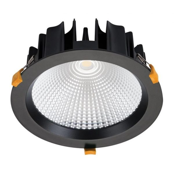 Domus Lighting NEO-35 Round 35W Dimmable LED Downlight - Black Frame - Oz Lights Direct