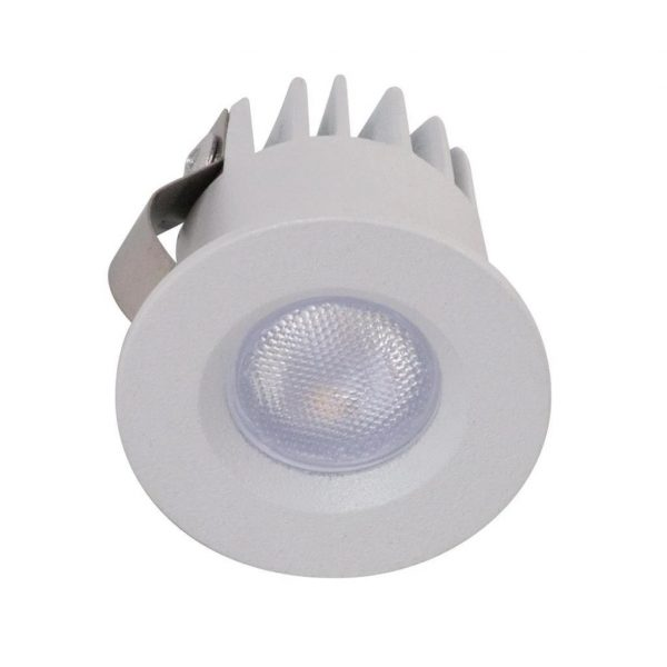 Domus Lighting POCKET-3 Round 3W Recessed Mini LED Kit White - Oz Lights Direct